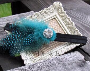 Feather Newborn Baby Headband