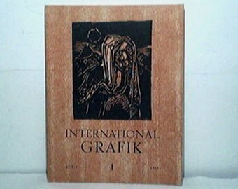 INTERNATIONAL GRAFIK 1VOL 1 1969 Print Woodcut Graphic Art Book Limited Edition