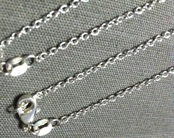 "18"", 925 sterling silver necklace chain with lobster clasp"