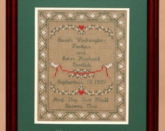 Victorian Wedding Sampler Leaflet for Counted Cross Stitch - #46L