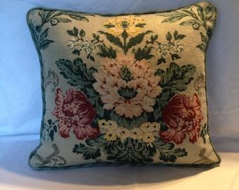 Vintage Floral Fabric Pillows