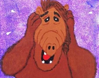 Alf Anxiety - 80s alien wall art