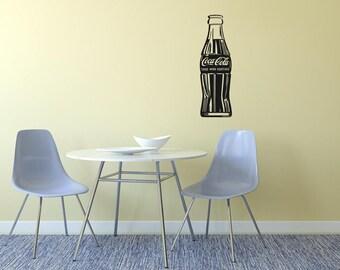 Coke Bottle Vinyl Wall Decal  Wall Art Sticker Room Decor