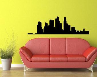 Singapore Skyline Vinyl Wall Decal  Wall Art Sticker Room Decor