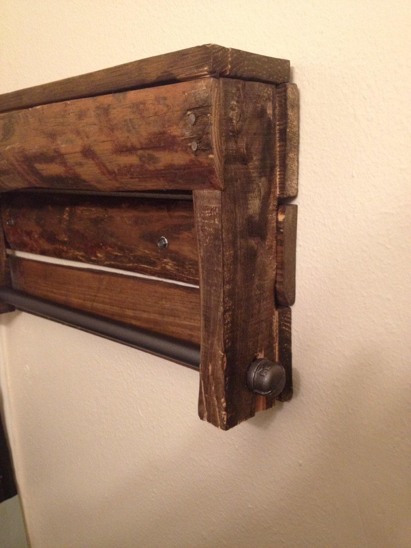 pallet towel rack. Black Bedroom Furniture Sets. Home Design Ideas