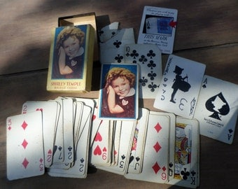 vintage deck of Playing Cards Antique SHIRLET TEMPLE   in original box