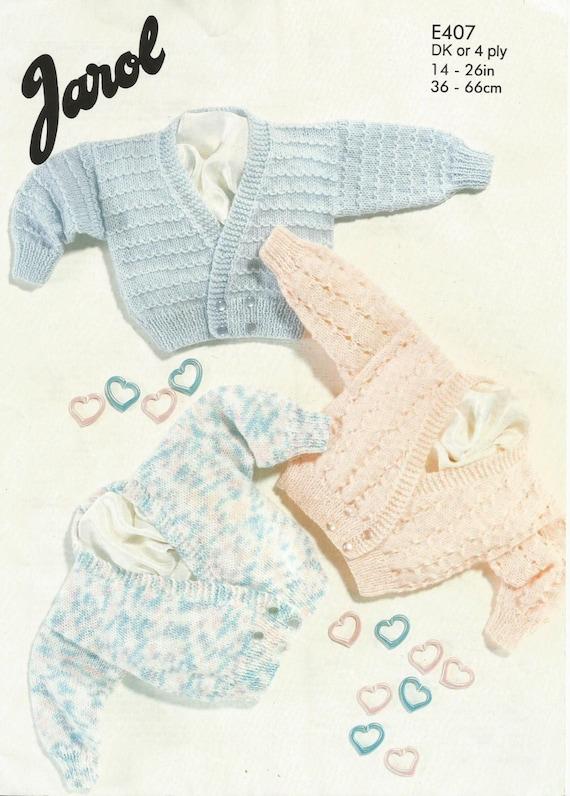 Crossover Cardigan Knitting Pattern : Instant Download PDF Pretty Crossover Cardigan Knitting