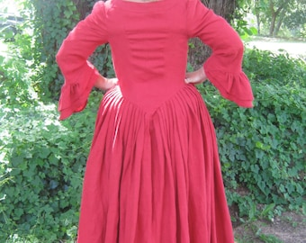 women's 18th century gowns in 3 styles