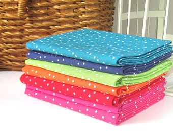 Six  fat quarters, spotty fat quarters, spotty fabric,  quilting fabric, sewing supplies,  uk fabric supplies,quilting squares, fabric piece