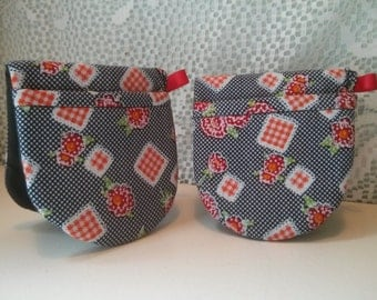 Mini Oven Mitts Pot Holders  Oven Mitts Microwave Oven Kitchen Housewares Heat Resistant Flowers Cherries Colourful Stripes Scrolling Hearts