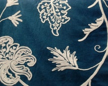 Ocean Crewel Fabric