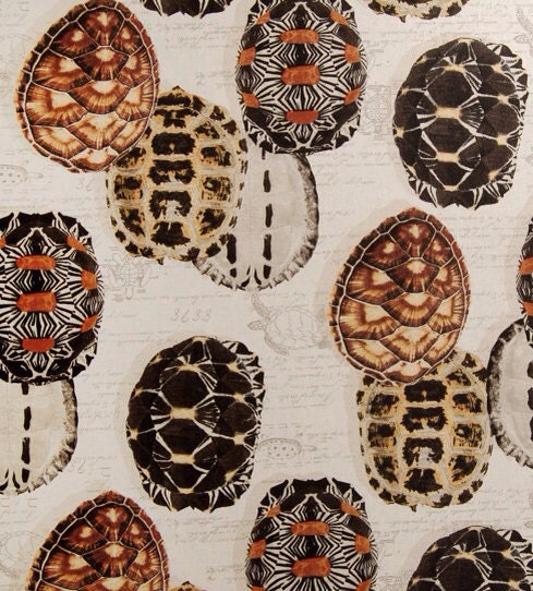turtle shells upholstery fabric turtle pillow fabric. Black Bedroom Furniture Sets. Home Design Ideas