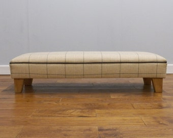 Wool upholstered footstool