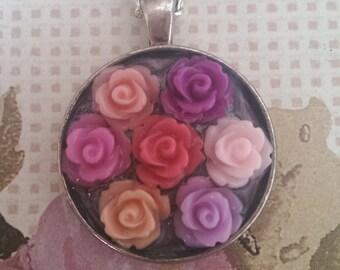 Multi rose pendant.