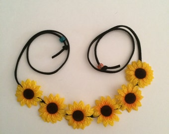 Sunflower Boho Halo