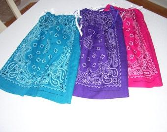 Girl's Bandana Dress or Top without Monogram