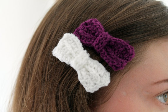 shop my stuff: hand crocheted hair bows