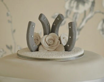 horseshoe wedding cake toppers popular items for horseshoe topper on etsy 15319