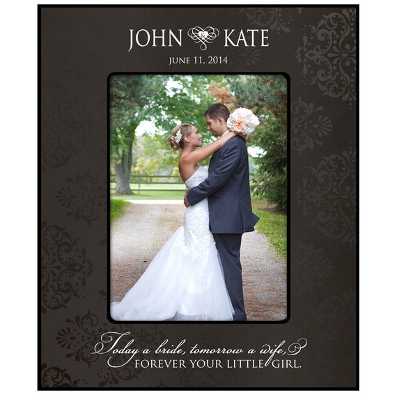Personalized Wedding Picture Frames Parents : Personalized Wedding Photo Frame for Parents