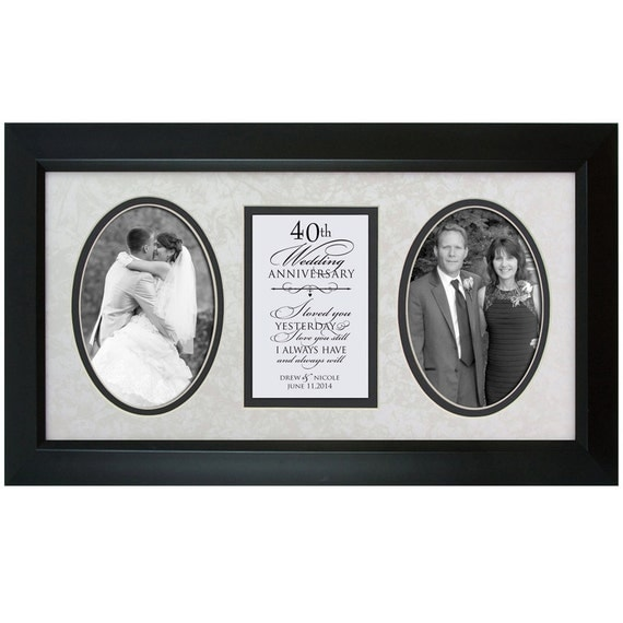 Special Gift For 40th Wedding Anniversary : anniversary Gift ,40th Wedding anniversary picture frame Personalized ...