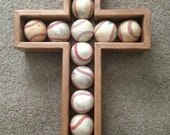 Baseball Cross Shadow box