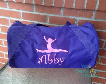Personalized Duffle/Gym Bag, Sport Bag, Dance, Cheer, gymnastics, Soccer, Football, Bridal Party Gift with name, initial, monogram.
