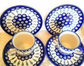 Excellent Boleslawiec Pottery Plates and Coffee Mugs