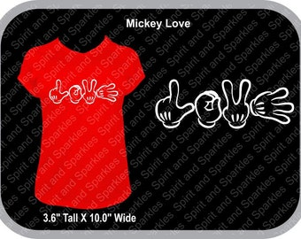 Mickey Love Ladies T-Shirt
