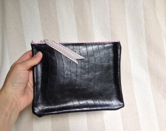 Leather wallet - size medium