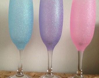 Glitter champagne flute