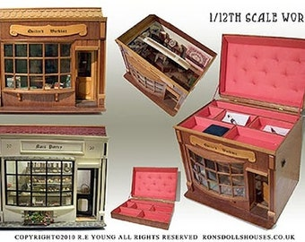 PLANS:  1/12th Scale Period Shop Dolls House and Storage Box