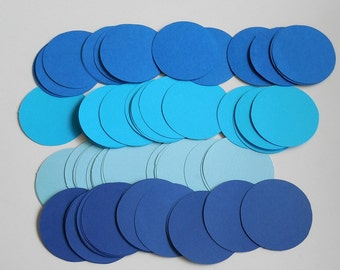 "100- 2"" Die cut Circles , YOU CHOOSE COLOR , frozen party decorations"