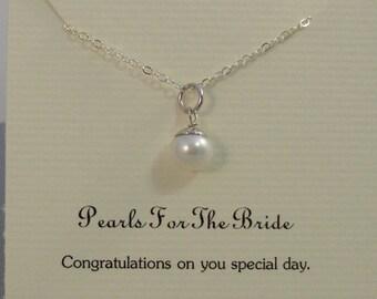 Pearls For The Bride,Bride Necklace,Pearl Necklace,Pearl Jewelry,Bride,Bride Jewelry,Wedding,Something New,Bridal Necklace,graceandwisdom