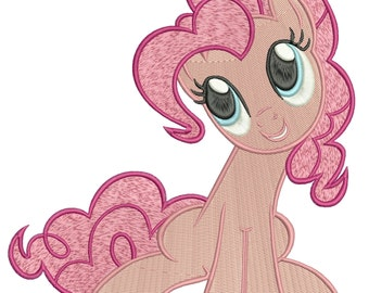 INSTANT DOWNLOAD Machine Embroidery Designs. Pinkie Pie. My Little Pony: Friendship Is Magic.