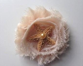 Shabby Starfish clip