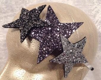 The Triple Glitter Star headband
