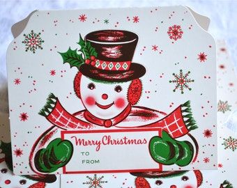 Vintage Christmas Gift Tags - Frosty the Snowman - 4