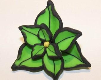 Polymer Clay Green Brooch