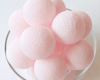 20 Pastel Pink Loose Cotton Balls NOT INCLUDE Light String – Party, Wedding, Holiday, Festival, Decoration, Display Window