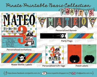Pirate Party Printable Collection BASIC