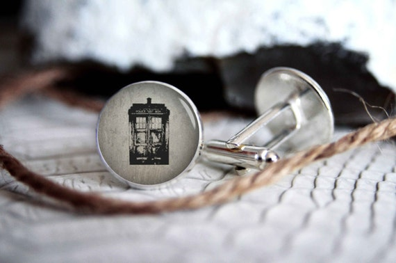 Tardis Cuff Links | Doctor Who Gift Guide