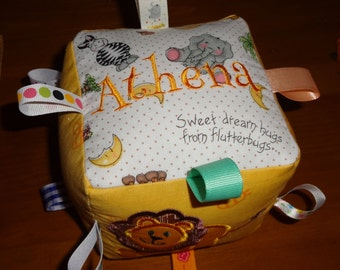 Baby Taggie Block Custom Personalized Soft Toy