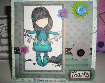 Thanks Gorjuss Handmade Card
