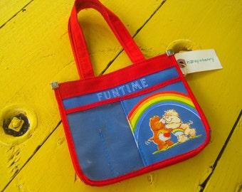 Vintage Care Bear Children's Purse, vintage girl purse, 1980's vintage children, care bear purse, vintage girl's purse, 1980's girl's purse