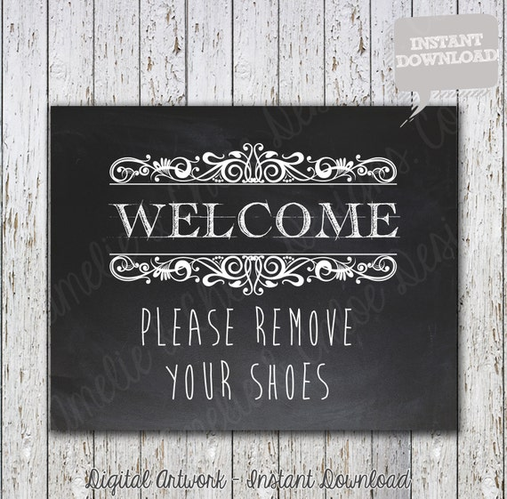 Decisive image throughout please remove your shoes sign printable