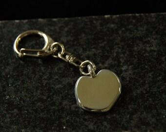 Heavy  Sterling Heart Key Chain