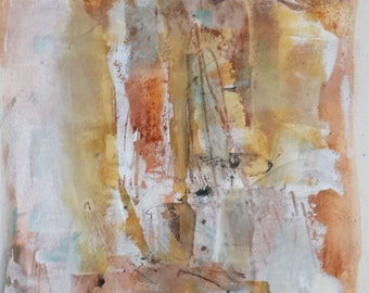 Abstract Art Original Painting, Abstract Wall Art, Original Abstract Acrylic Painting, Mixed Media Wall Art, Contemporary Home Decor, brown