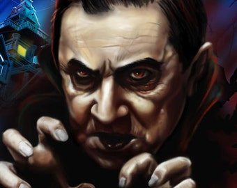 Universal Monsters DRACULA - Canvas Art Print