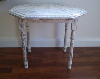 Table Shabby Chic  Upcycled Vintage Occasional Table