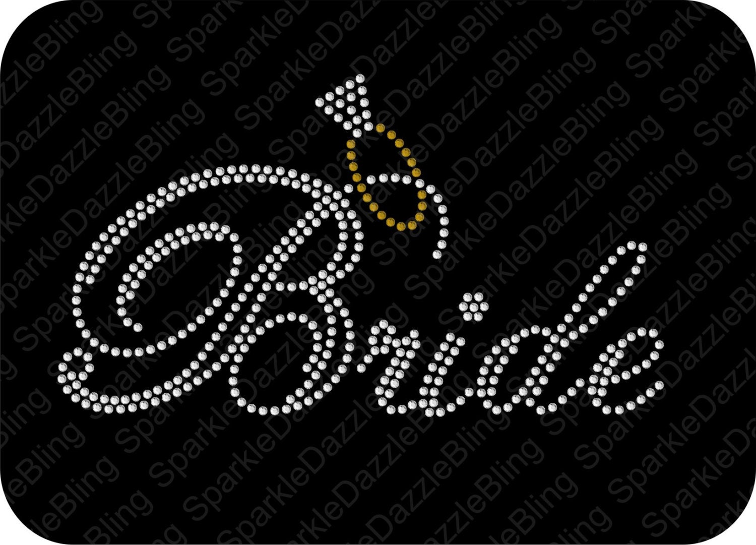 Bride And Ring Wedding Rhinestone Template Instant Download